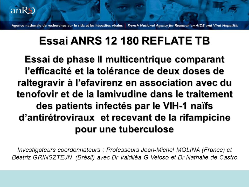 Essai ANRS 12 180 REFLATE TB