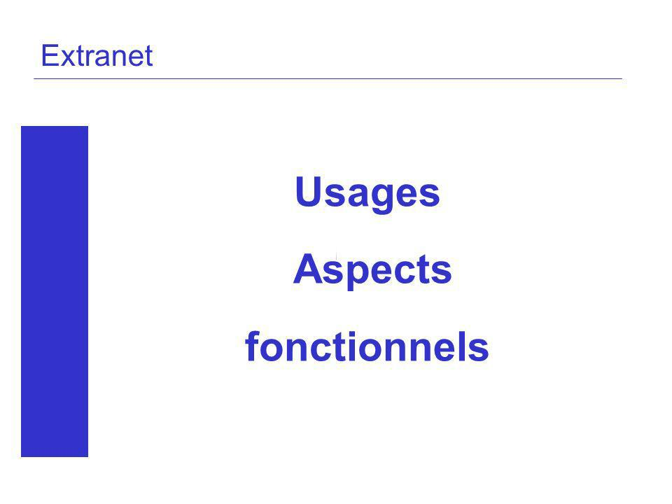 Usages Aspects fonctionnels