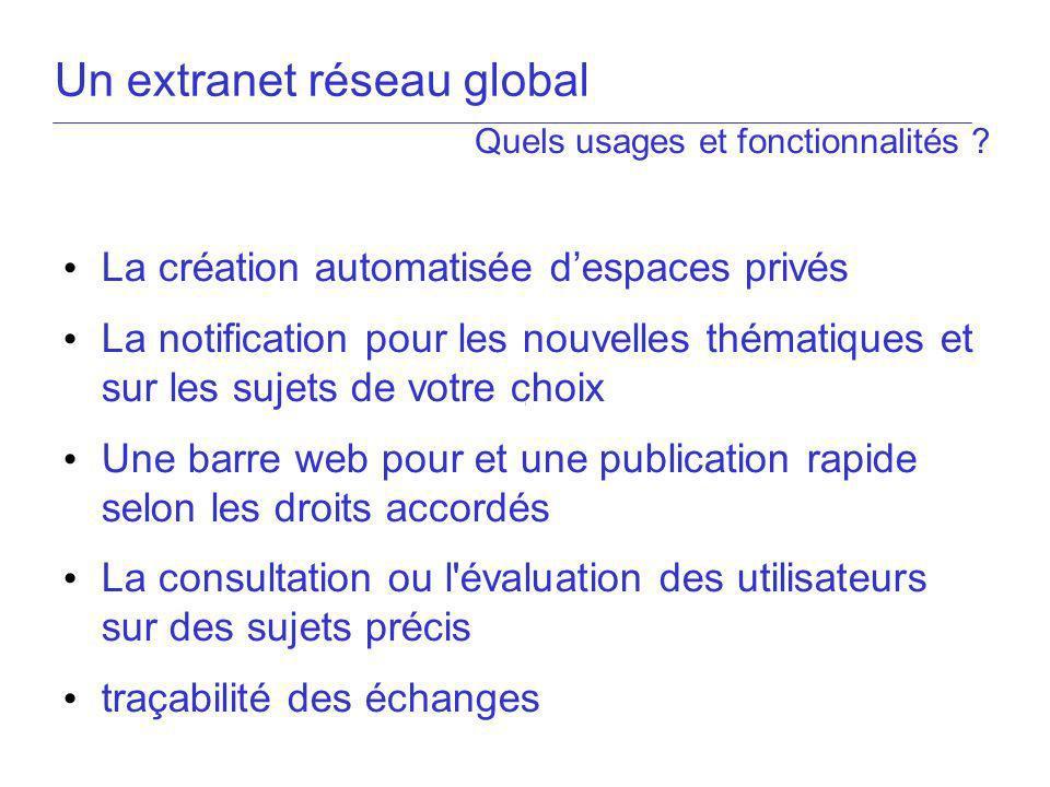 Un extranet réseau global