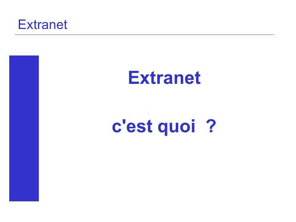 Extranet Extranet c est quoi