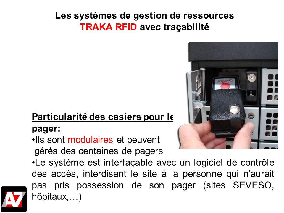 Les systèmes de gestion de ressources TRAKA RFID avec traçabilité