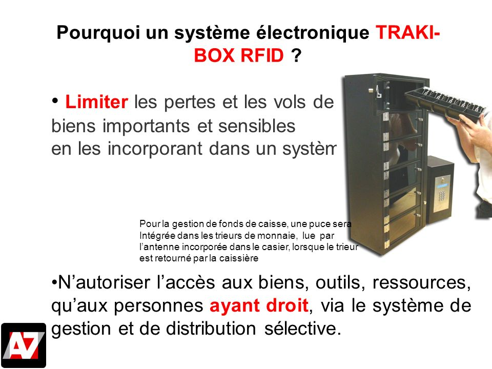 Pourquoi un système électronique TRAKI-BOX RFID