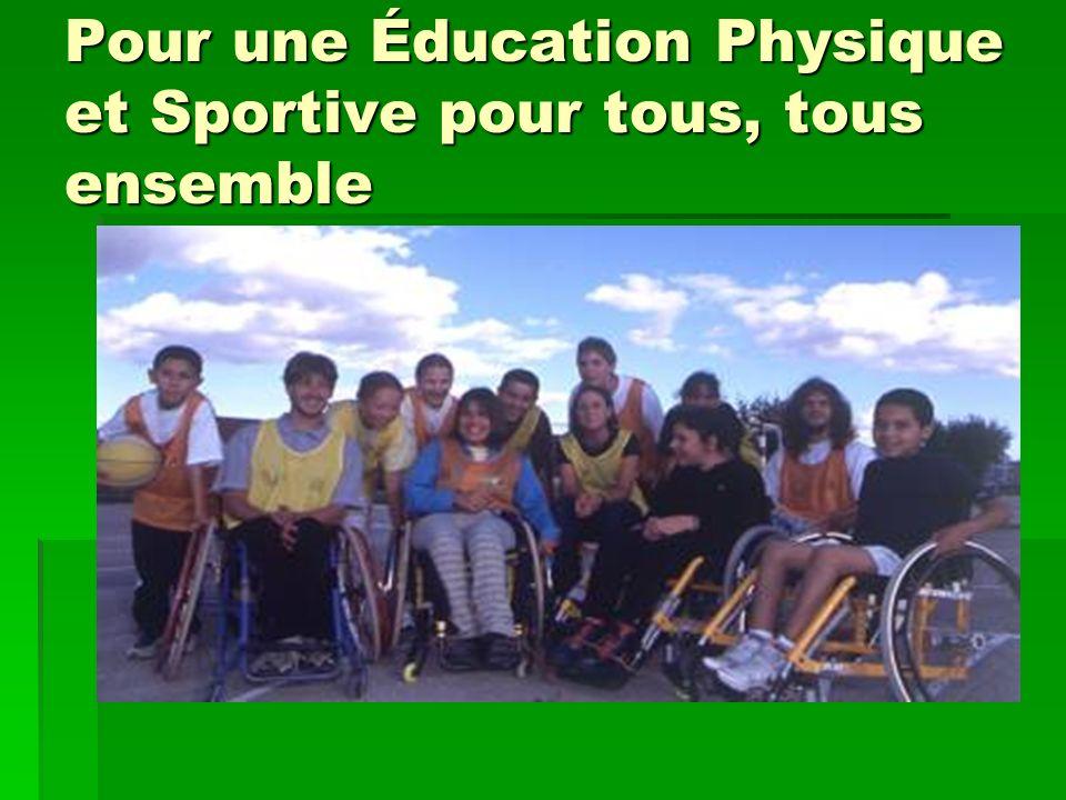Pour une Éducation Physique et Sportive pour tous, tous ensemble