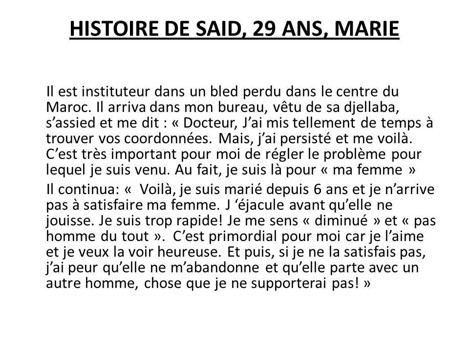 HISTOIRE DE SAID, 29 ANS, MARIE