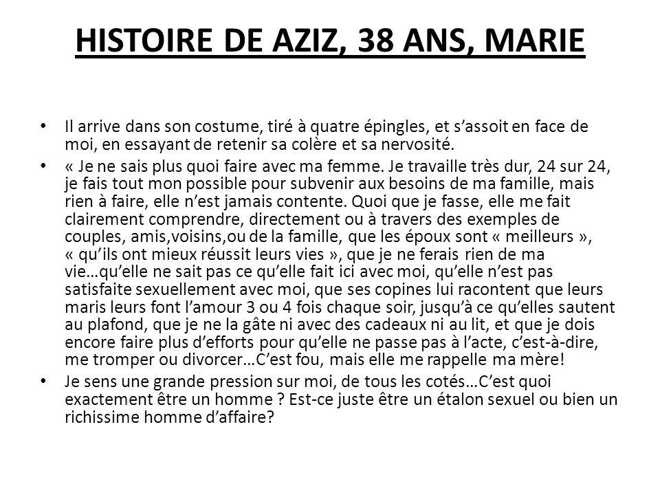 HISTOIRE DE AZIZ, 38 ANS, MARIE
