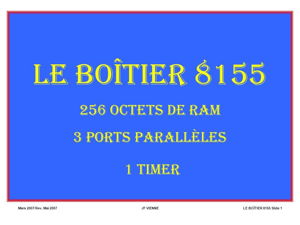LE BOÎTIER 8155 1 TIMER 256 OCTETS DE RAM 3 PORTS PARALLÈLES