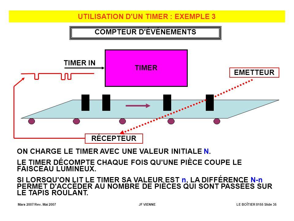 UTILISATION D UN TIMER : EXEMPLE 3