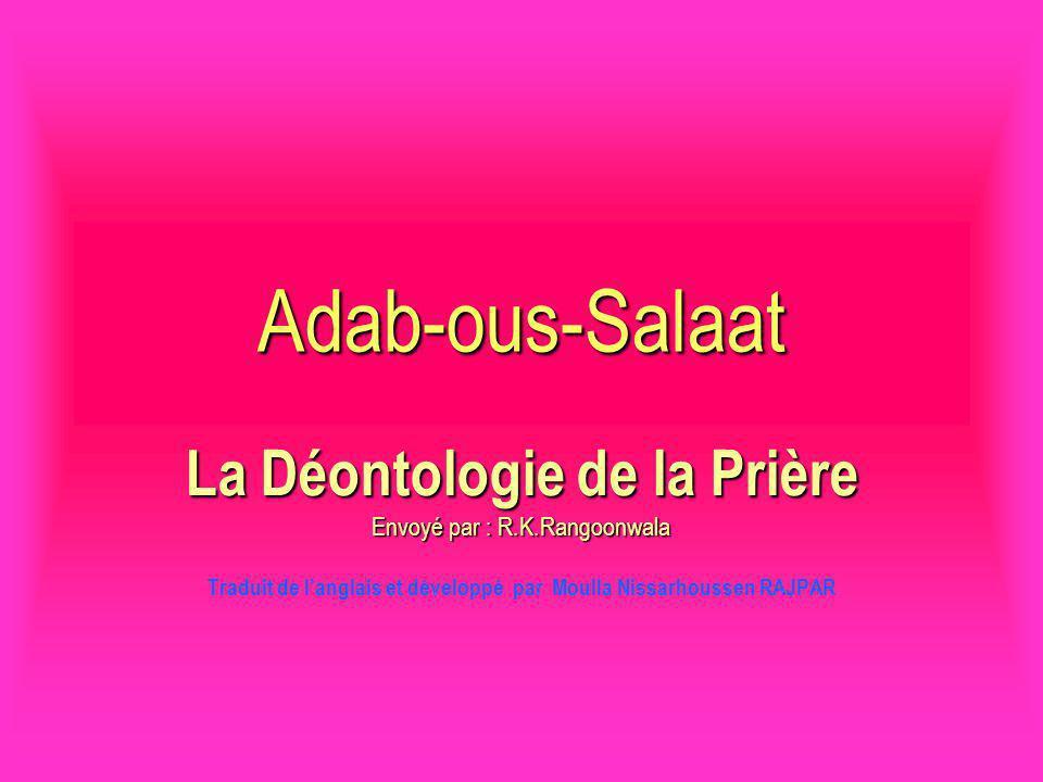 Adab-ous-Salaat La Déontologie de la Prière