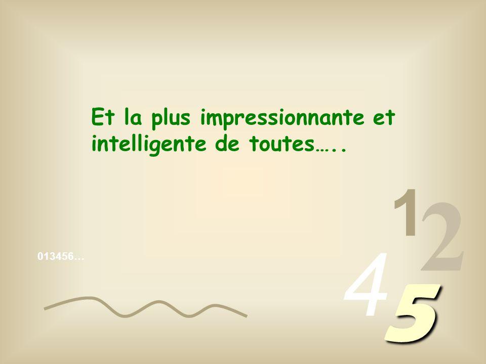 2 5 4 1 Et la plus impressionnante et intelligente de toutes…..