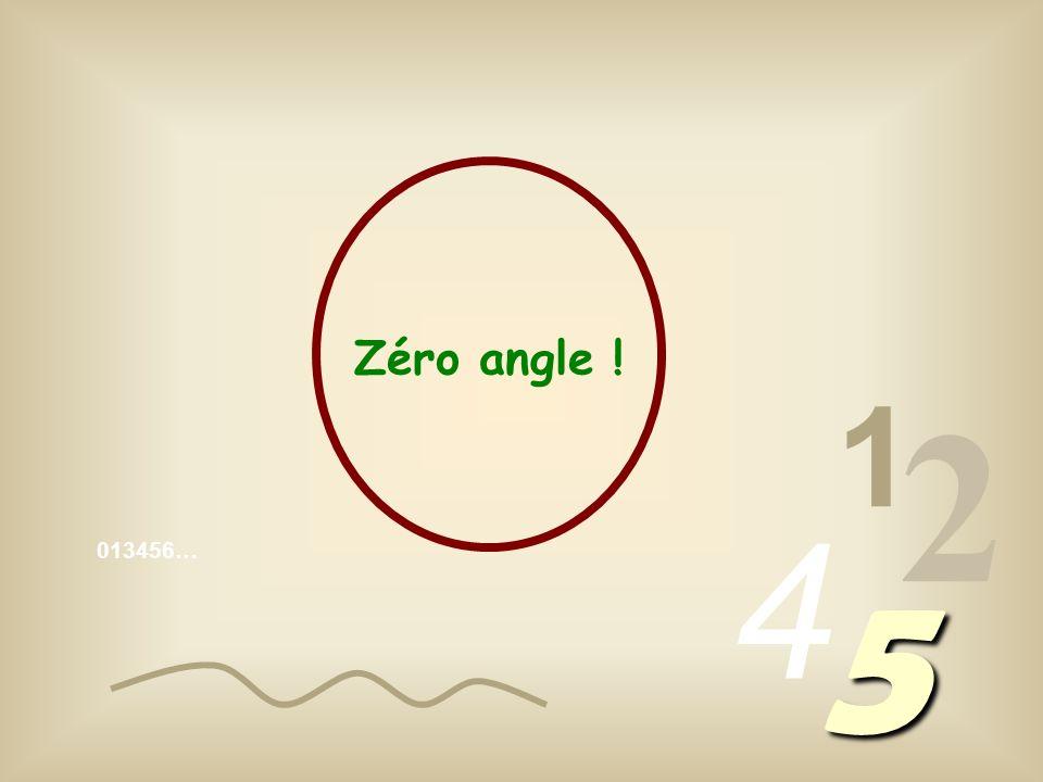 Zéro angle ! 1 2 4 013456… 5