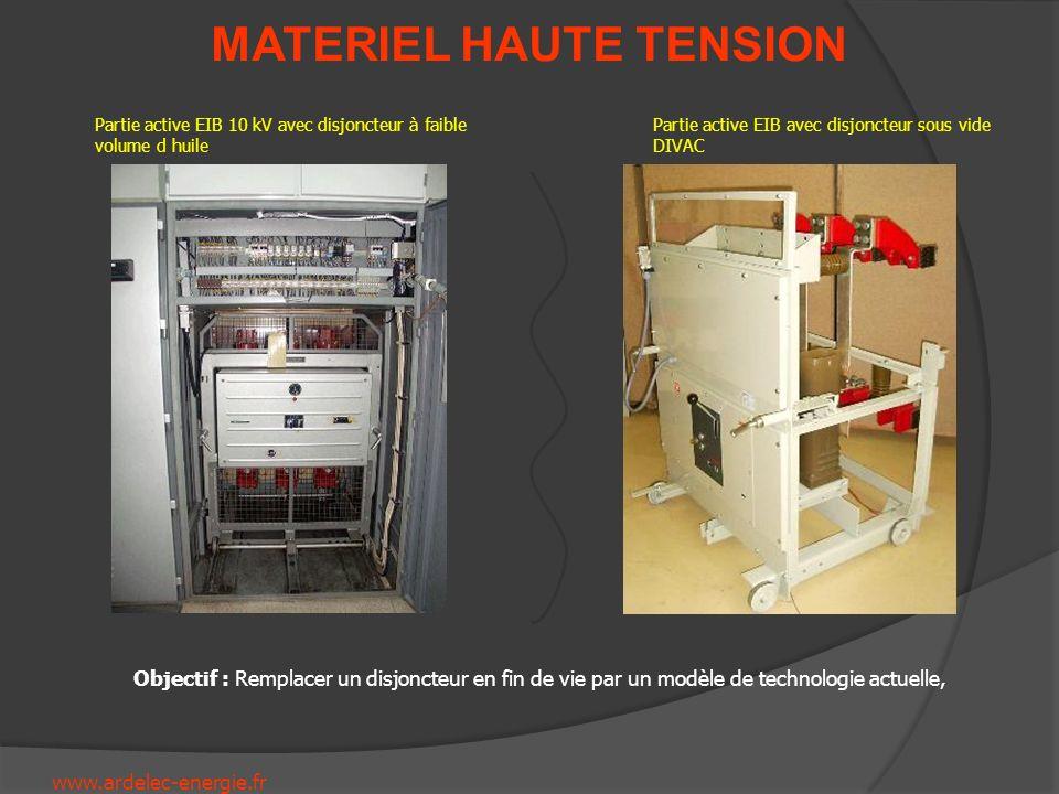 Partie active EIB 10 kV avec disjoncteur à faible volume d huile