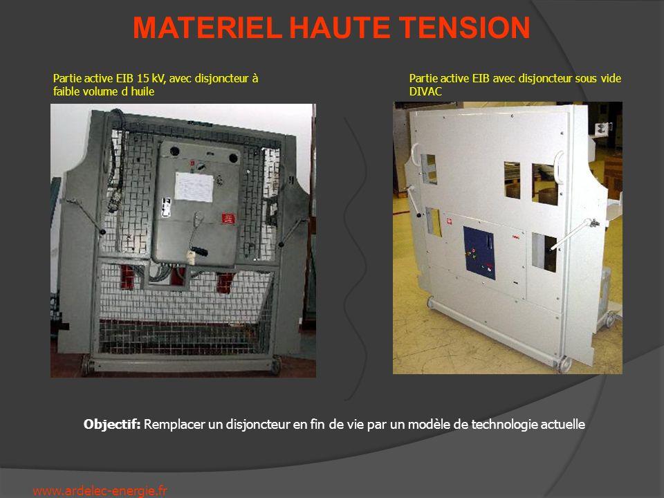 Partie active EIB 15 kV, avec disjoncteur à faible volume d huile