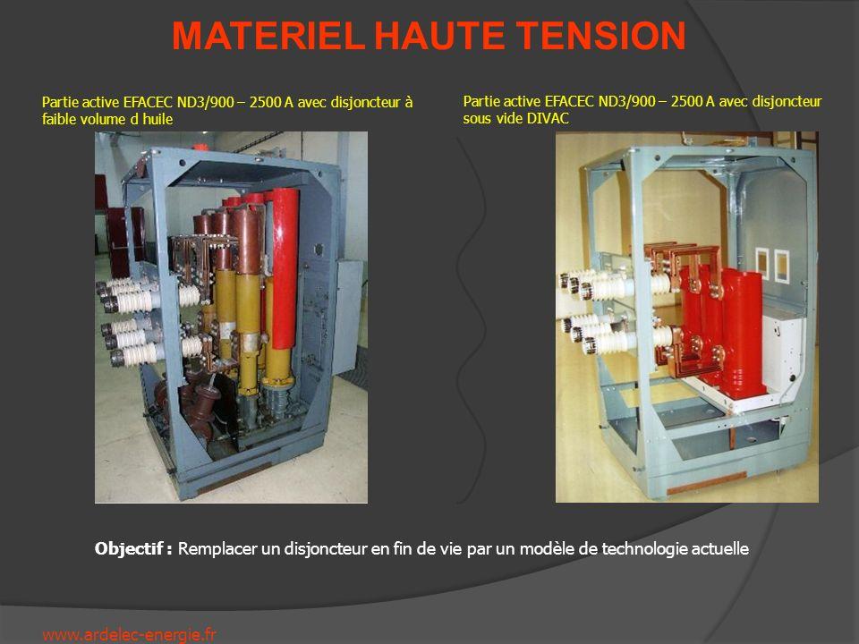 Partie active EFACEC ND3/900 – 2500 A avec disjoncteur à faible volume d huile