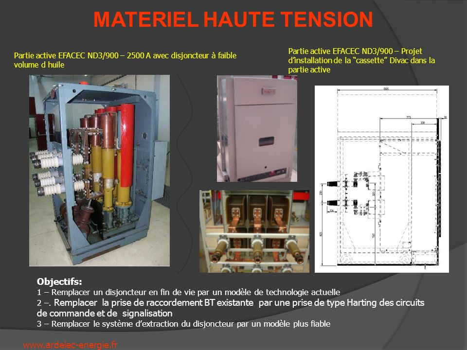 Partie active EFACEC ND3/900 – Projet d'installation de la cassette Divac dans la partie active