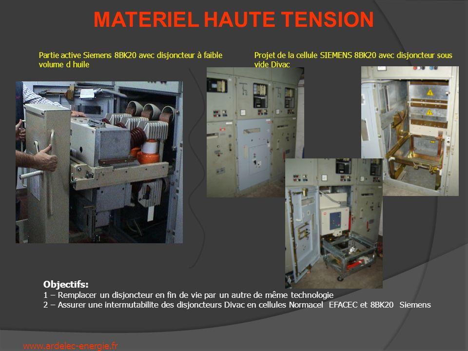 Partie active Siemens 8BK20 avec disjoncteur à faible volume d huile