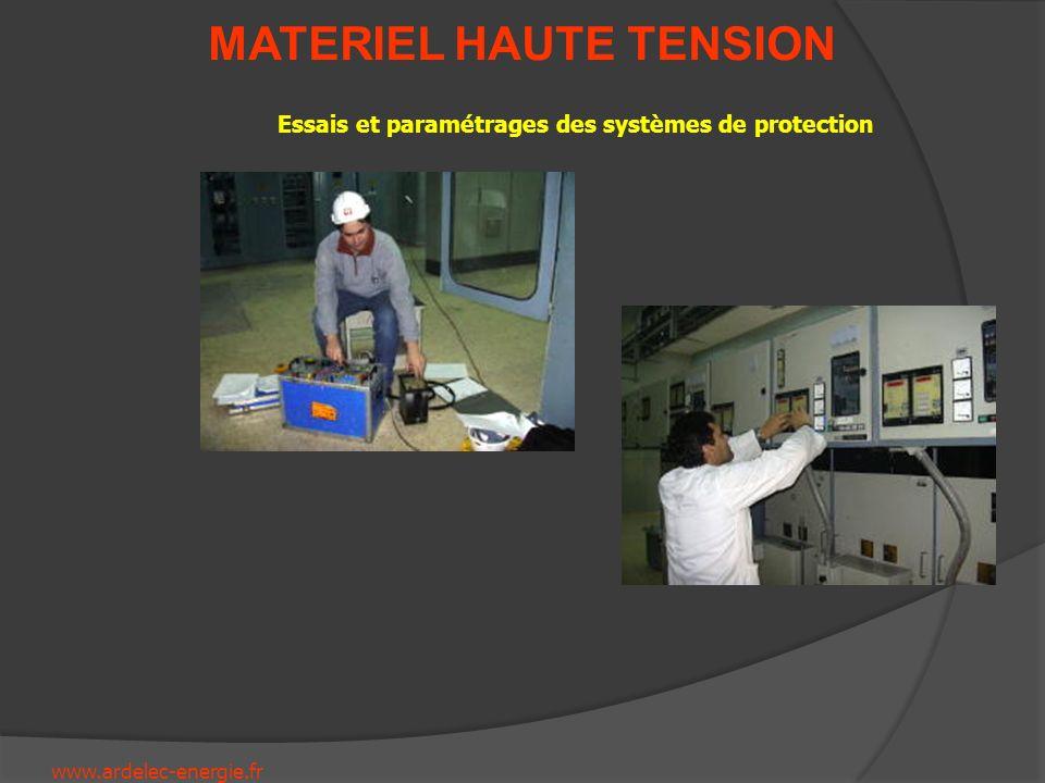 Essais et paramétrages des systèmes de protection