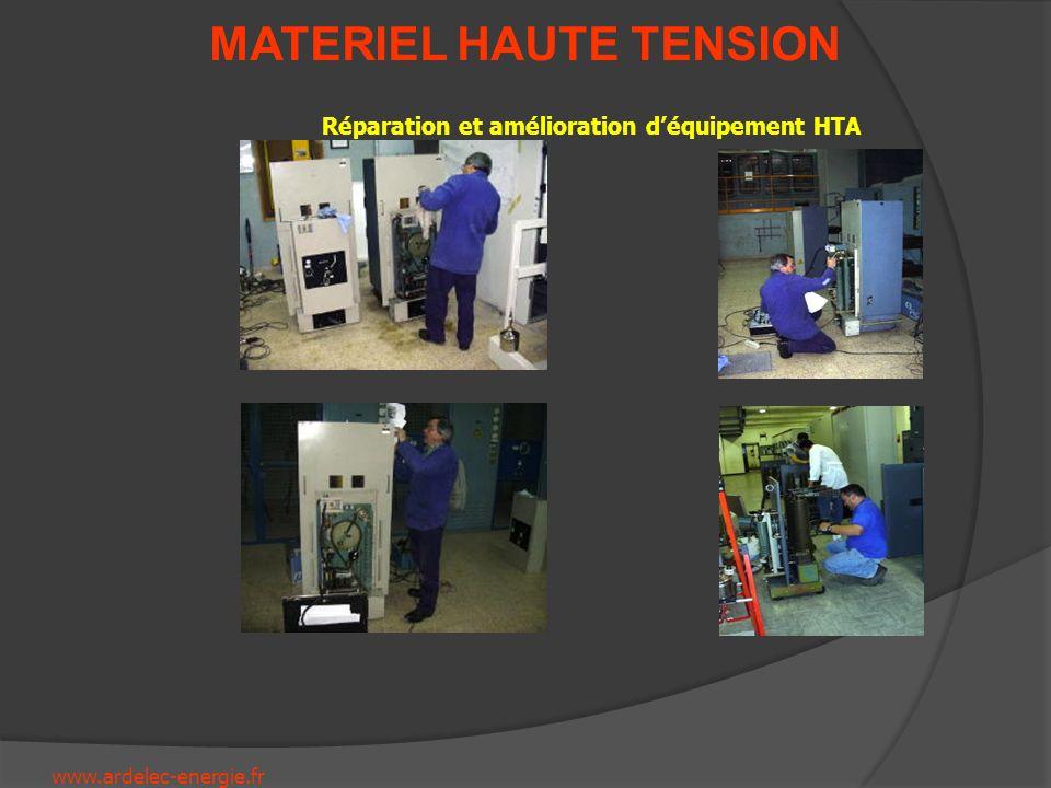 Réparation et amélioration d'équipement HTA