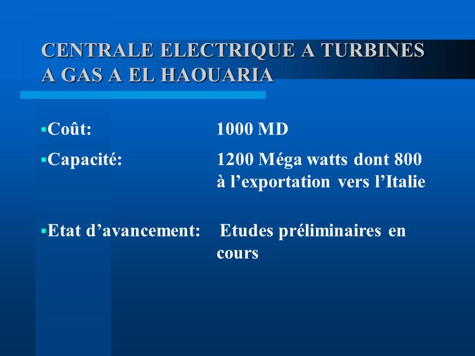 CENTRALE ELECTRIQUE A TURBINES A GAS A EL HAOUARIA