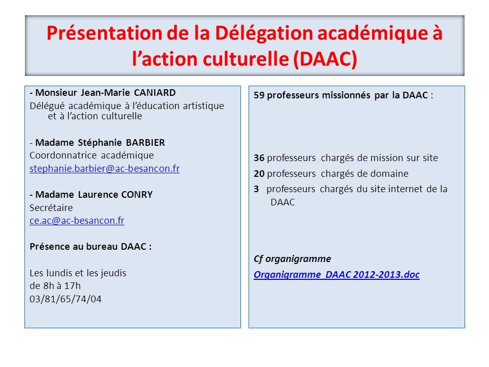 Présentation de la Délégation académique à l'action culturelle (DAAC)