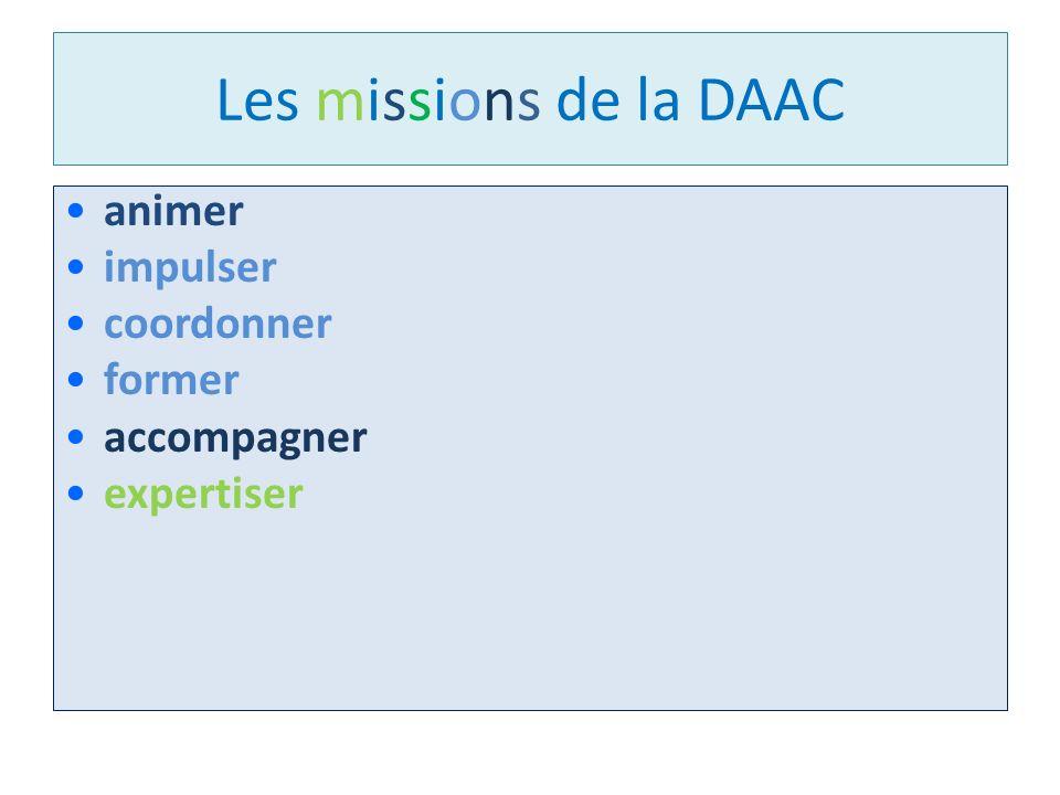 Les missions de la DAAC animer impulser coordonner former accompagner