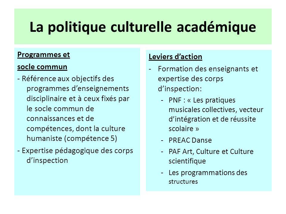 La politique culturelle académique