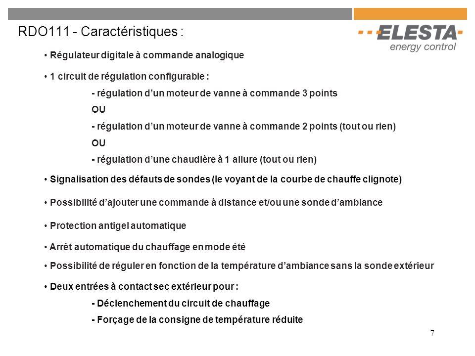 RDO111 - Caractéristiques :