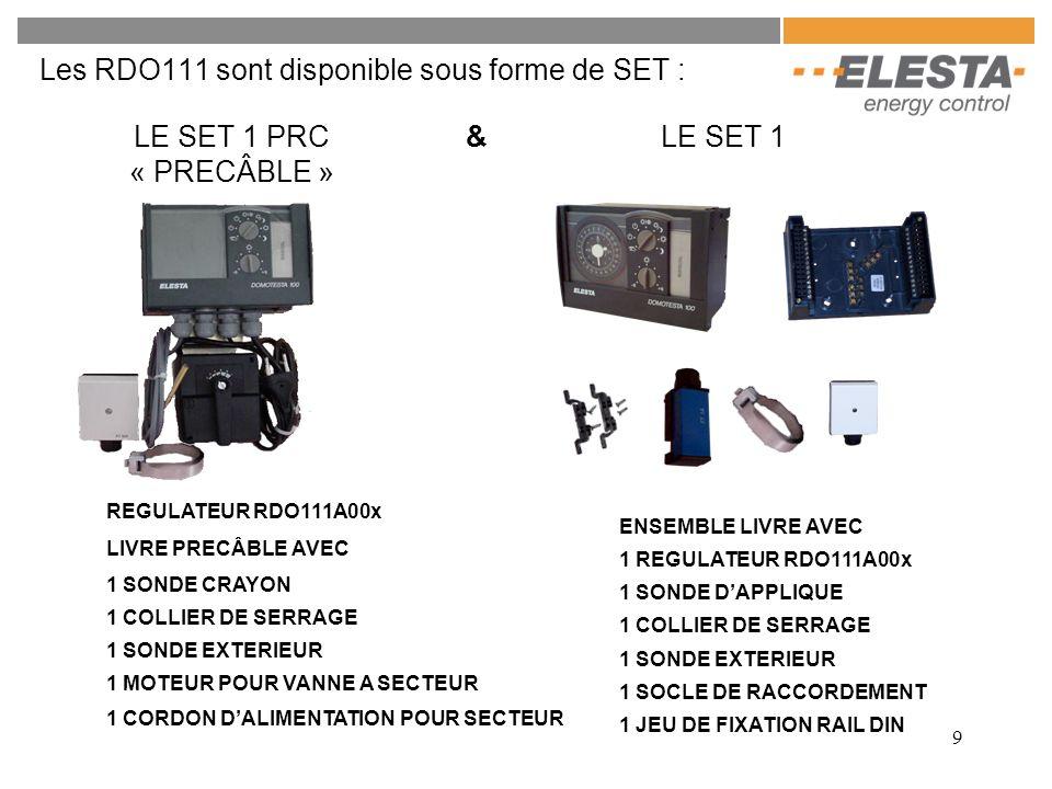 Les RDO111 sont disponible sous forme de SET :