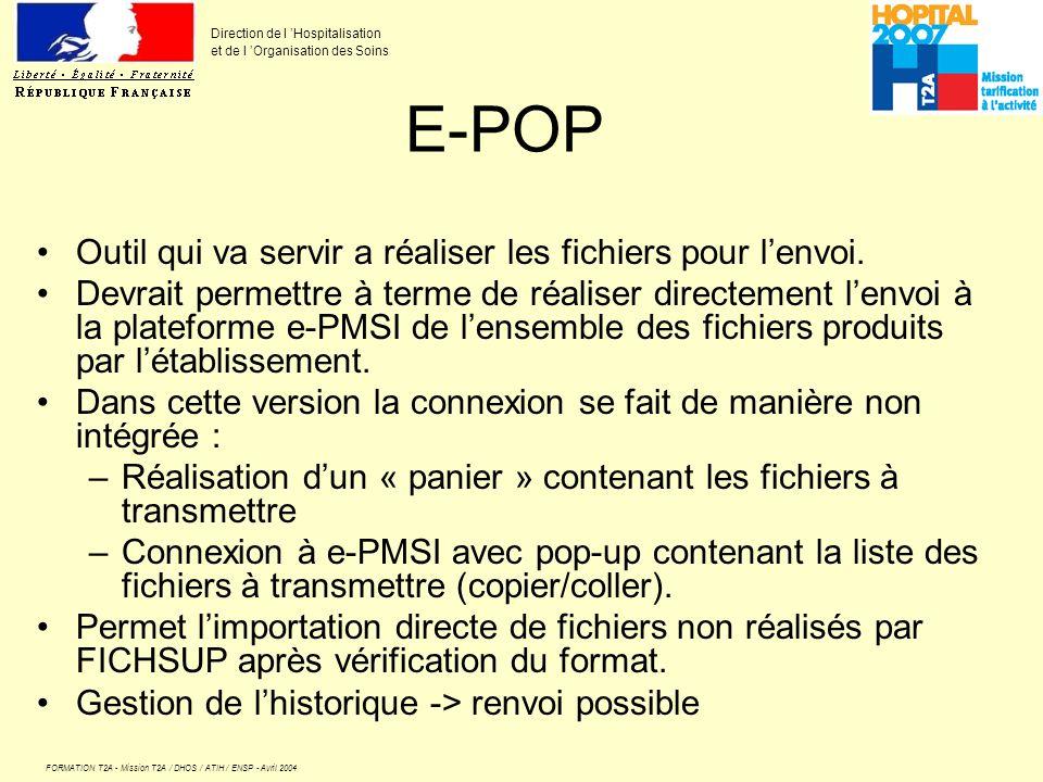 E-POP Outil qui va servir a réaliser les fichiers pour l'envoi.