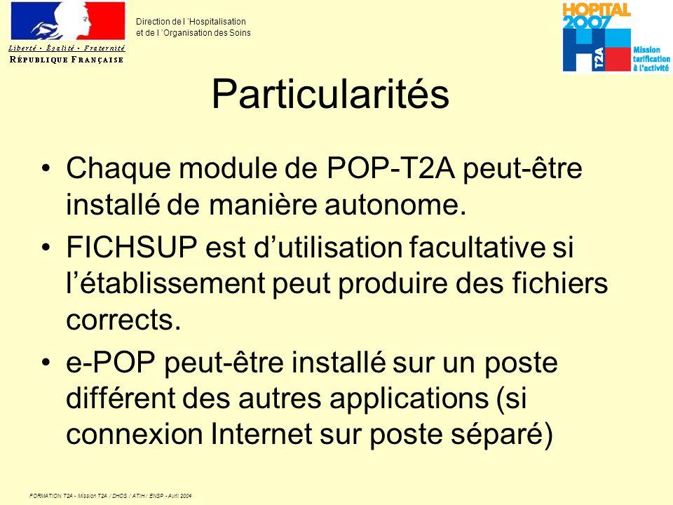 Particularités Chaque module de POP-T2A peut-être installé de manière autonome.