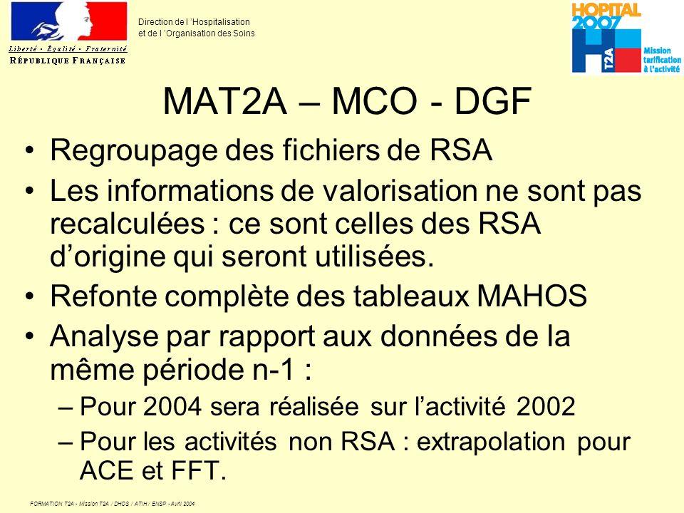 MAT2A – MCO - DGF Regroupage des fichiers de RSA
