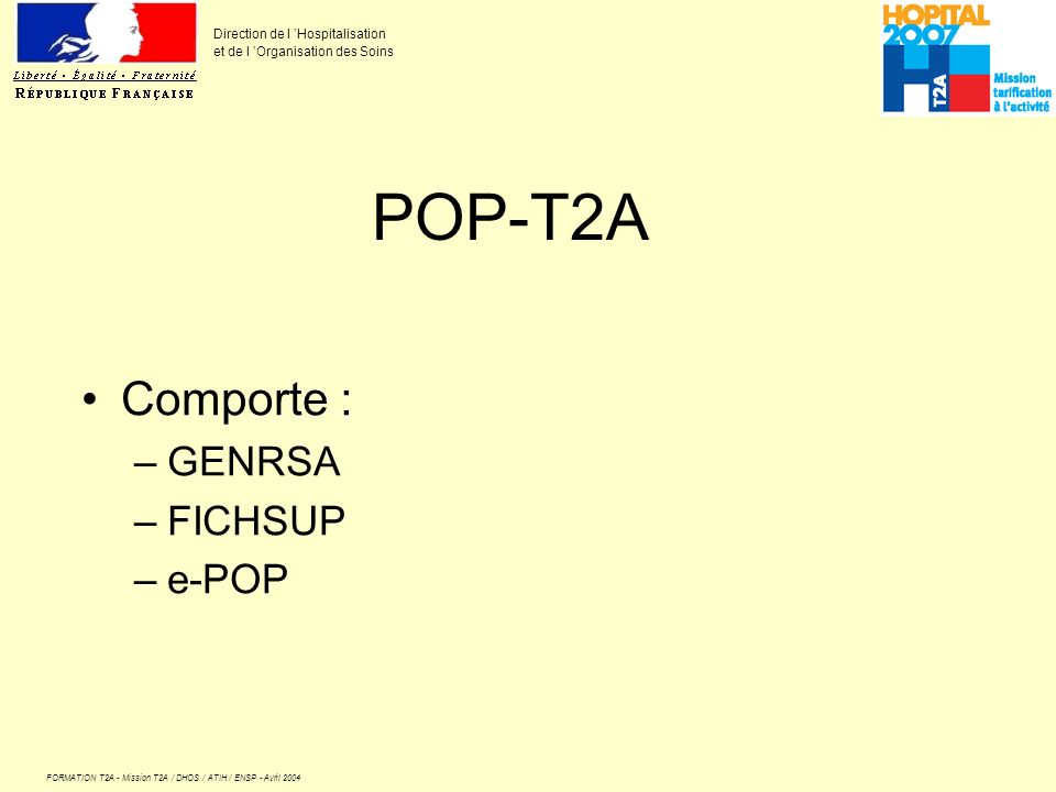 POP-T2A Comporte : GENRSA FICHSUP e-POP
