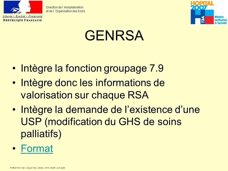 GENRSA Intègre la fonction groupage 7.9
