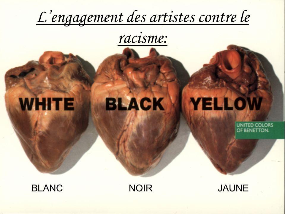 L'engagement des artistes contre le racisme: