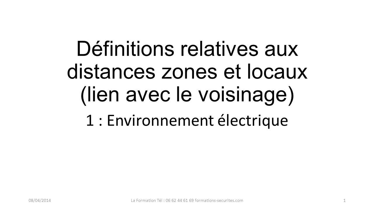 1 : Environnement électrique