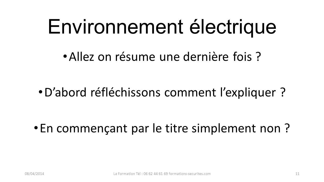1   environnement  u00e9lectrique