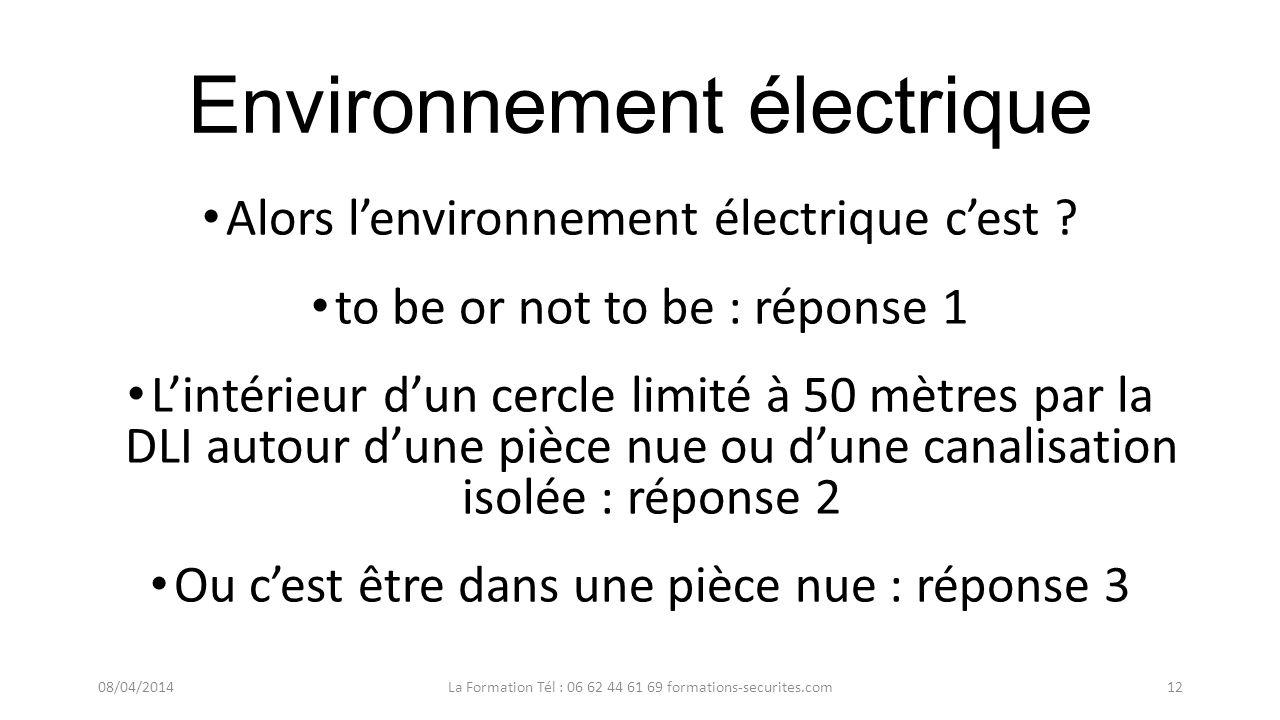 Environnement électrique