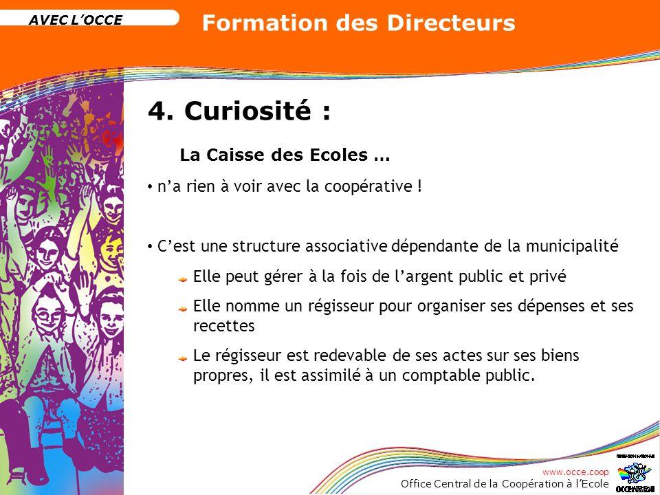 4. Curiosité : La Caisse des Ecoles …
