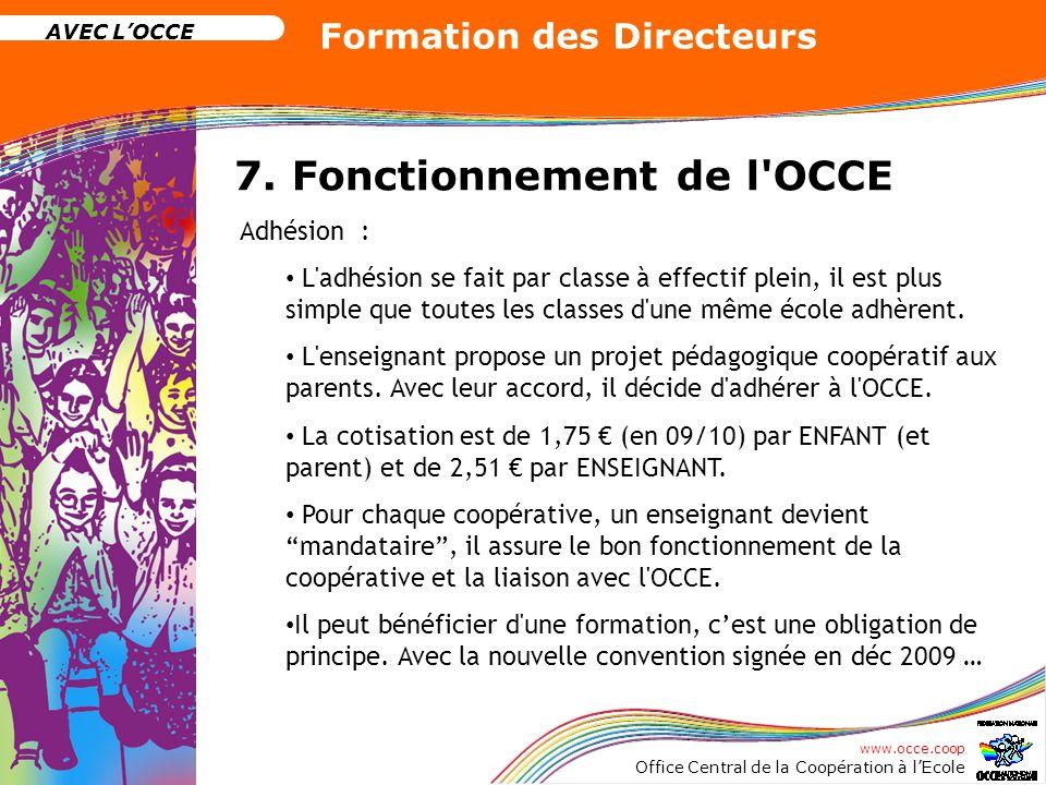 7. Fonctionnement de l OCCE