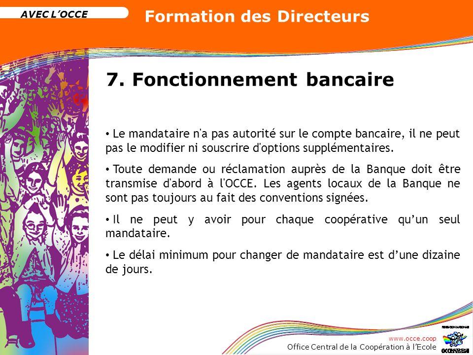 7. Fonctionnement bancaire