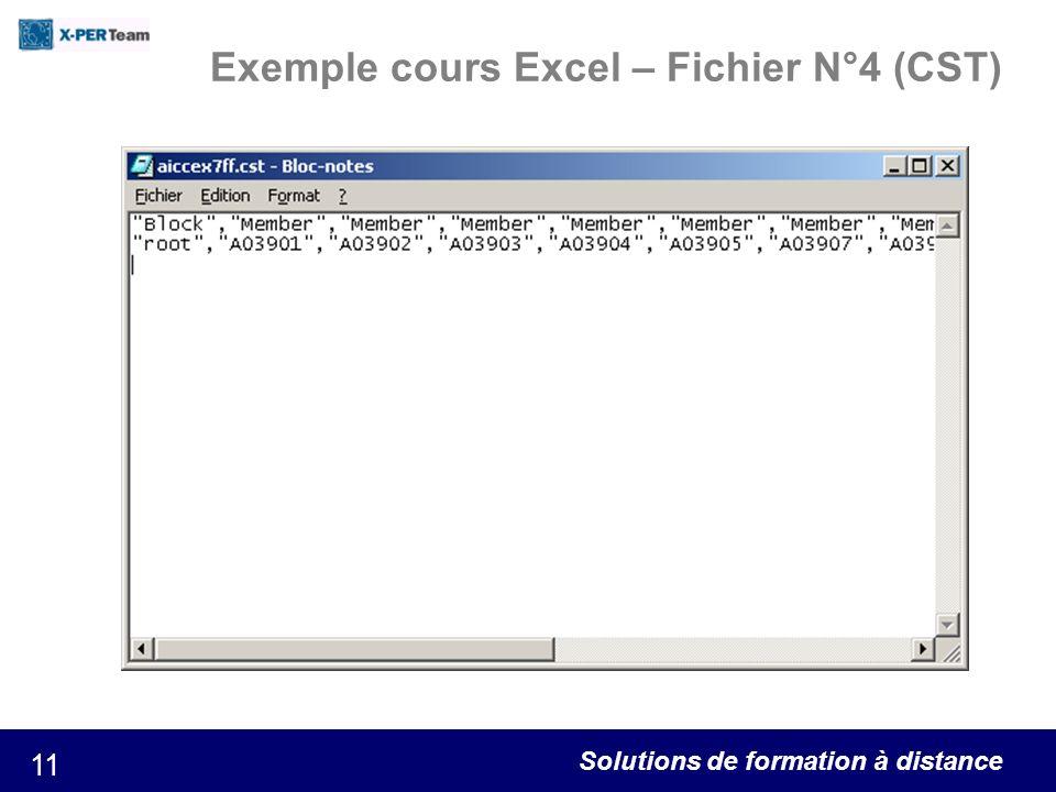 Exemple cours Excel – Fichier N°4 (CST)
