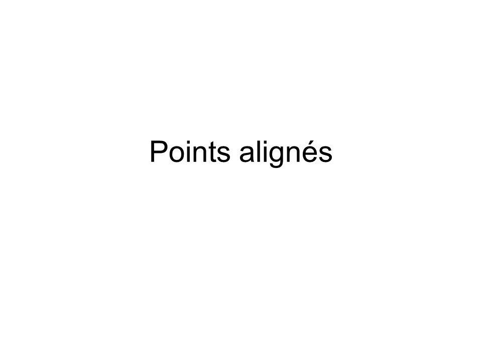 Points alignés