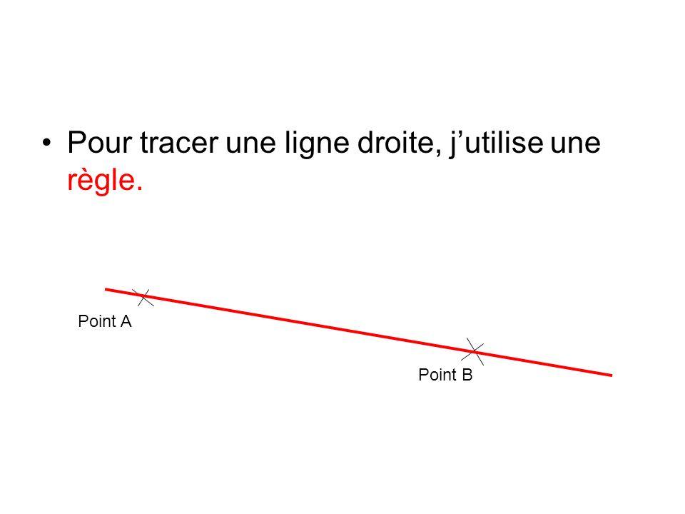 Pour tracer une ligne droite, j'utilise une règle.