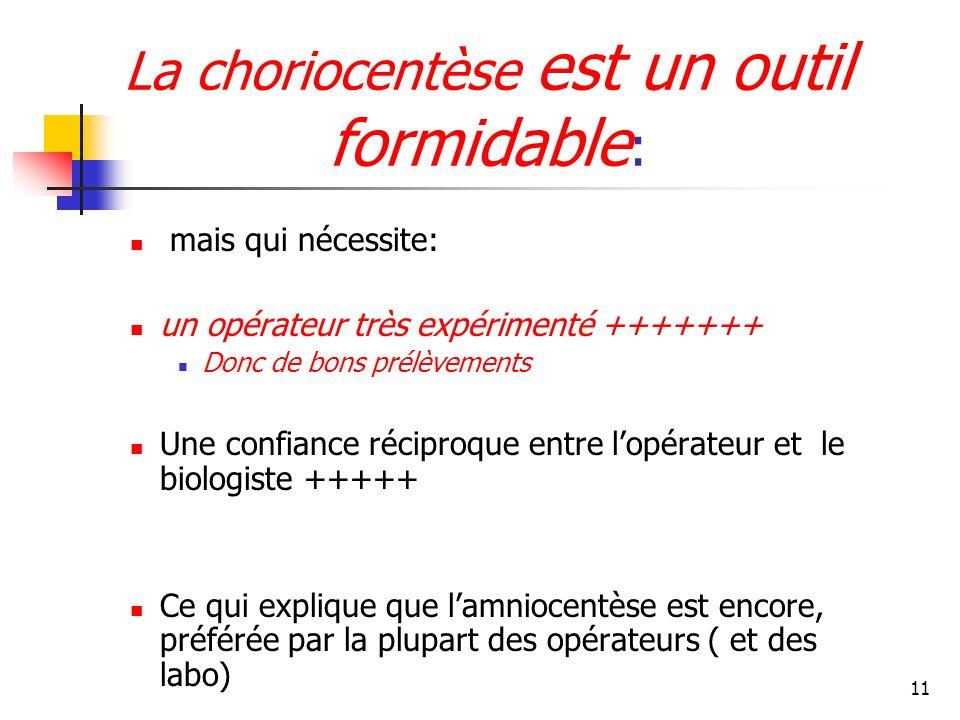 La choriocentèse est un outil formidable: