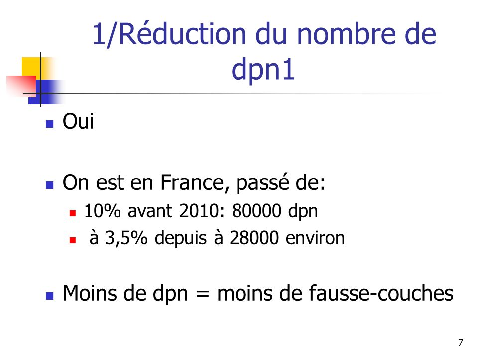 1/Réduction du nombre de dpn1