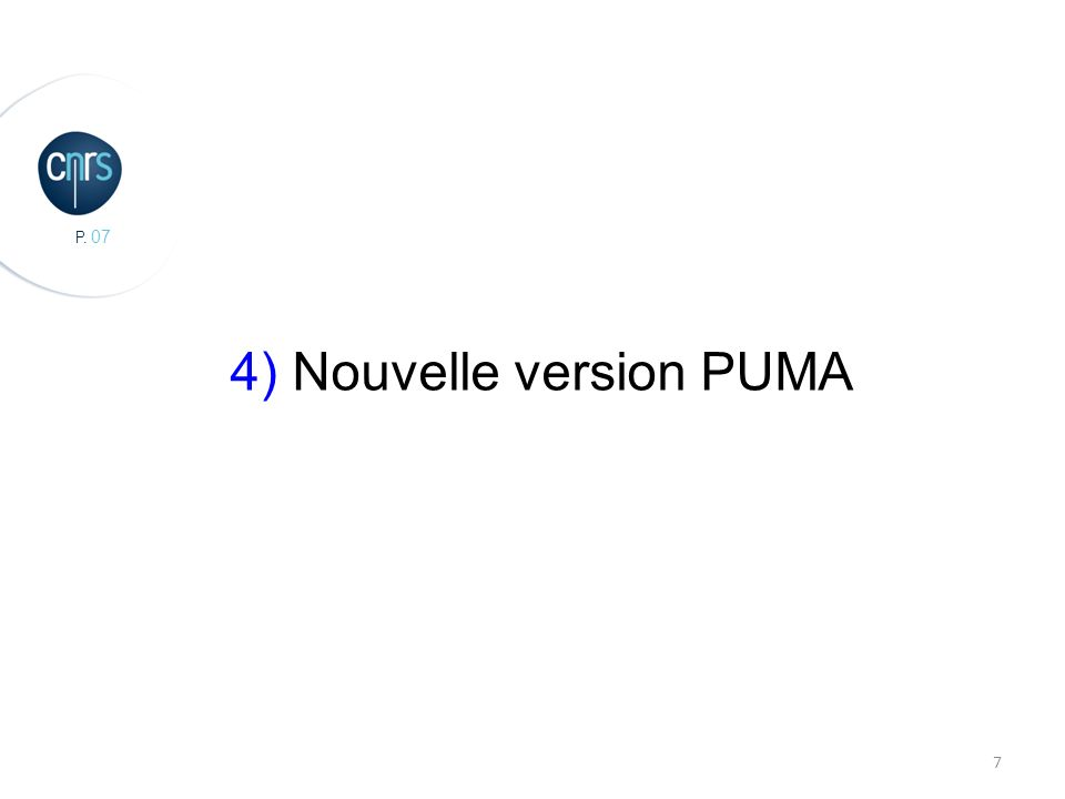 4) Nouvelle version PUMA