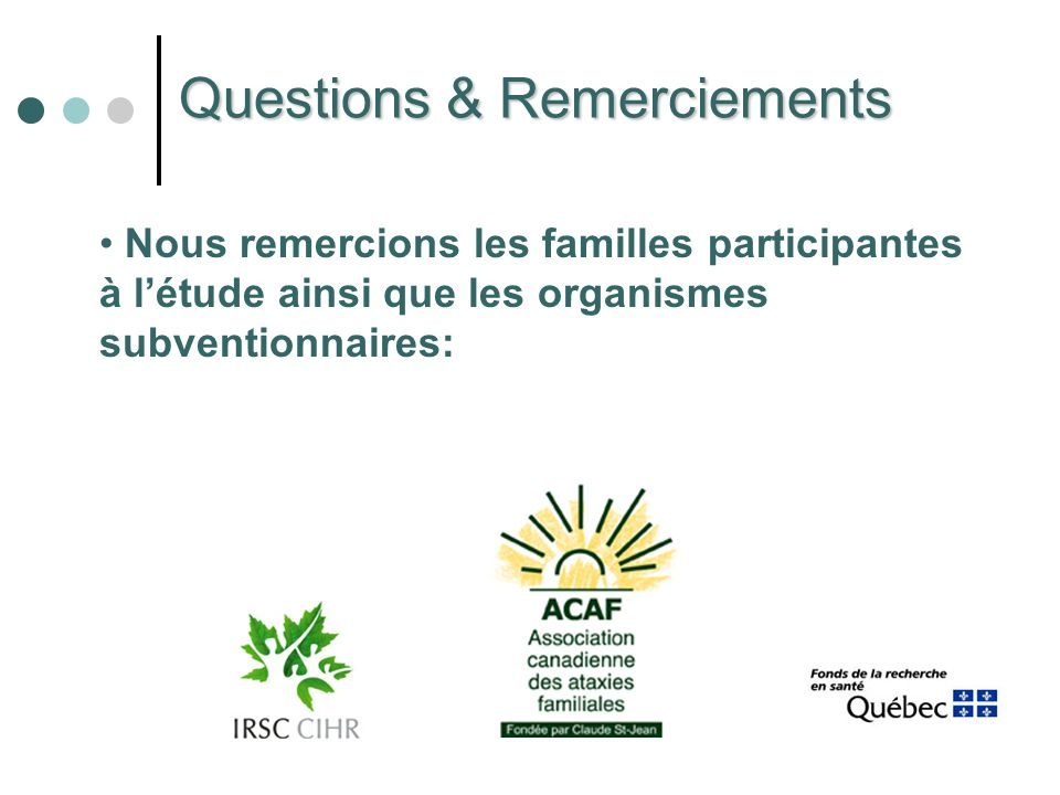 Questions & Remerciements