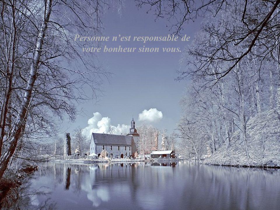 Personne n'est responsable de votre bonheur sinon vous.