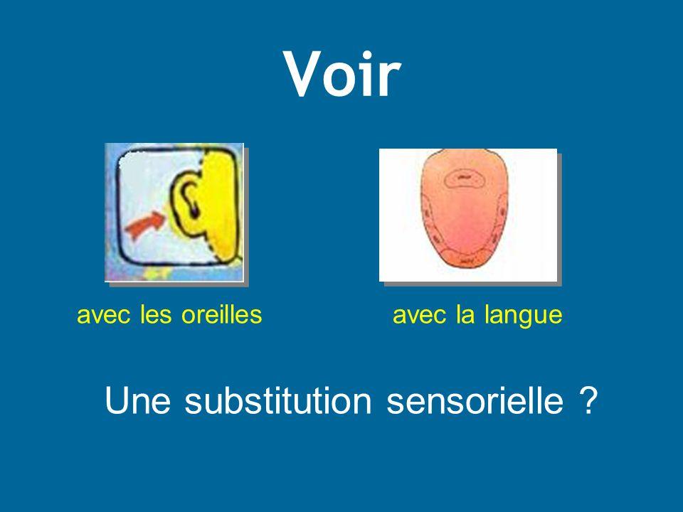 Une substitution sensorielle
