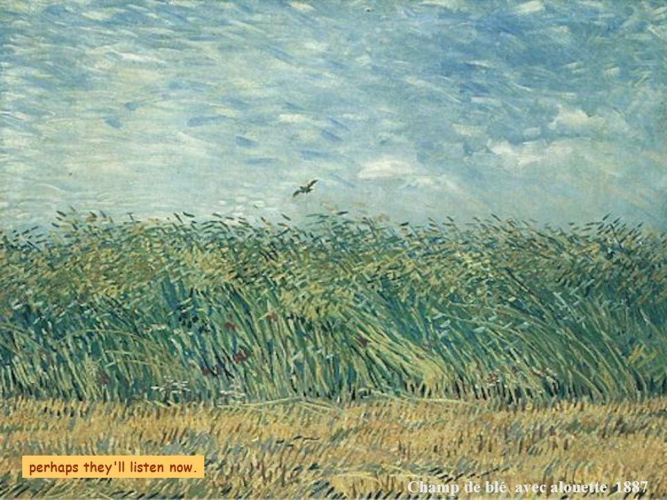 Champ de blé avec alouette 1887