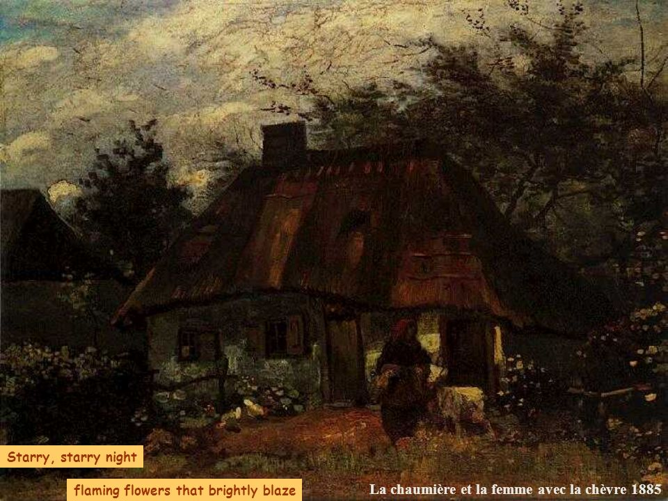 La chaumière et la femme avec la chèvre 1885